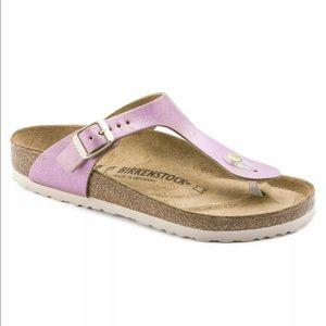 NEW 9 / 40 Birkenstock Gizeh Pink Suede Sandals